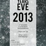 New years eve poster for Hotel Maiyango 2013