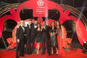 Restaurant team and hotel award